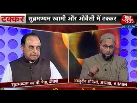 Subramanian Swamy And Asaduddin Owaisi's Heated Debate On Ayodhya Issue
