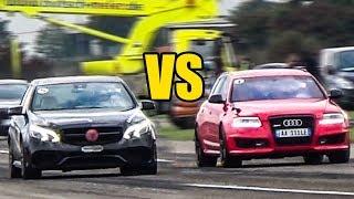 Audi RS6 C6 vs Mercedes E63 AMG - DRAG RACE!