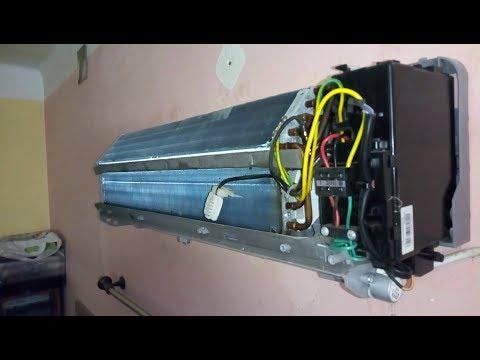 Split AC indoor Unit Wet Service Process
