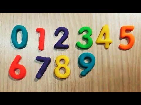 Dạy bé học đếm số | Trò chơi đất sét nặn Play-doh | Dạy bé nhận biết màu sắc