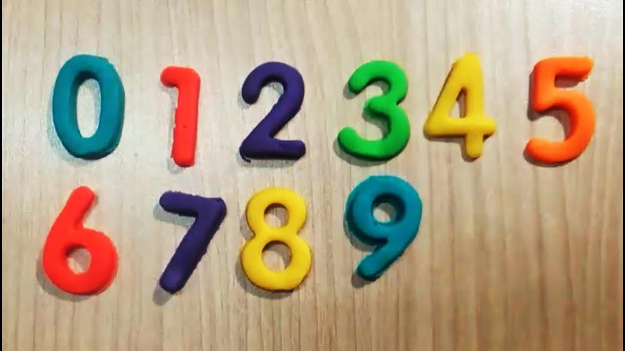 Dạy bé học đếm số tiếng việt từ 0-9 | Trò chơi đất sét nặn Play-doh | bé tập nhận biết màu sắc
