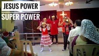 """Jesus Power Super Power""  Praise song dance"