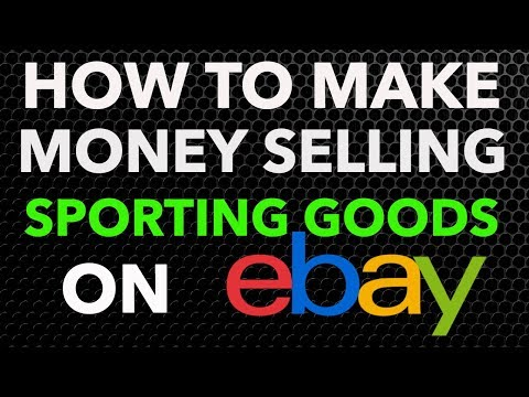 How To Make Money Selling Sporting Goods On EBay & Locally-BOLOS!