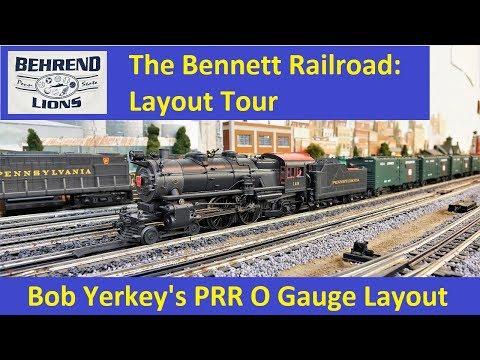 Layout Tour:  Bob Yerkey's O Gauge PRR Layout