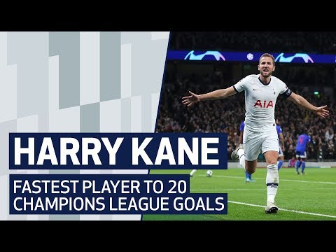 HARRY KANE | ALL 20 CHAMPIONS LEAGUE GOALS | FASTEST PLAYER TO REACH MILESTONE