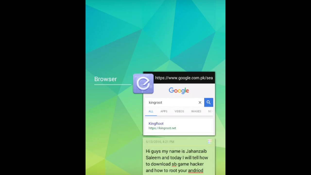 How to download sb game hacker and root your android device