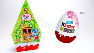 Kinder Surprise Mini Mix unboxing with Candy and Toys