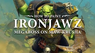 How to paint Ironjawz - Megaboss on Maw-Krusha.