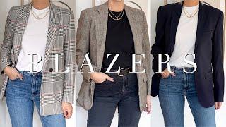 My Autumn Winter Blazer Wardrobe