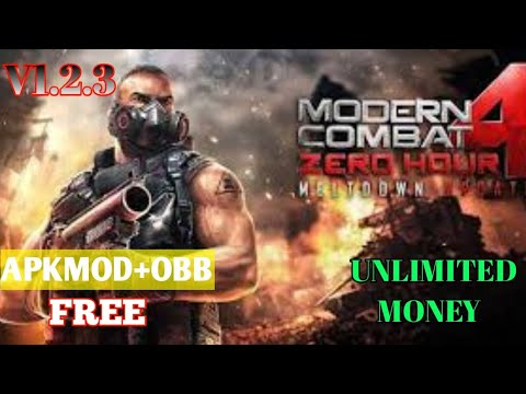 MODERN COMBAT 4 ZERO HOUR APKMOD+OBB UNLIMITED MONEY V1.2.3e FOR FREE IN ANY MOBILE DEVICES