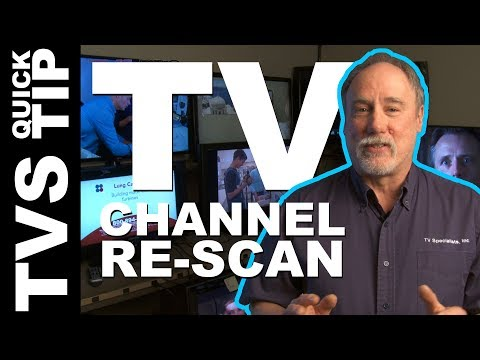 TVS Pro Quick Tip: Re-scan TV Channels