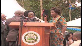 Charity Ngilu records another first in Kenya's history after being sworn in as Kitui County governor