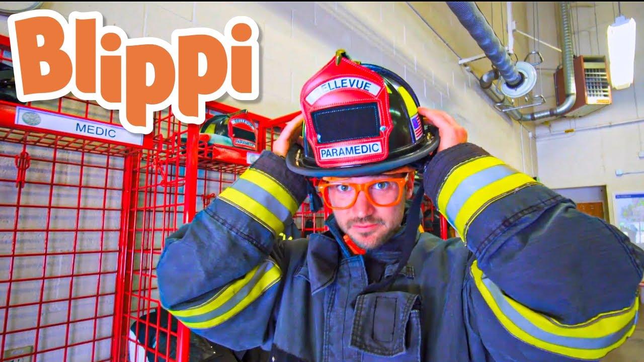Blippi Visits a Firetruck Station | Blippi Visits | Learn about Vehicles for Kids | Videos for Kids