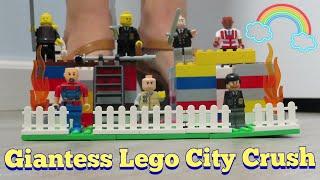 Giantess Crush - Lego City & Men Crush! DEMOLISHED W/ Heeled Sandals *FETISH - ASMR* 18 POV