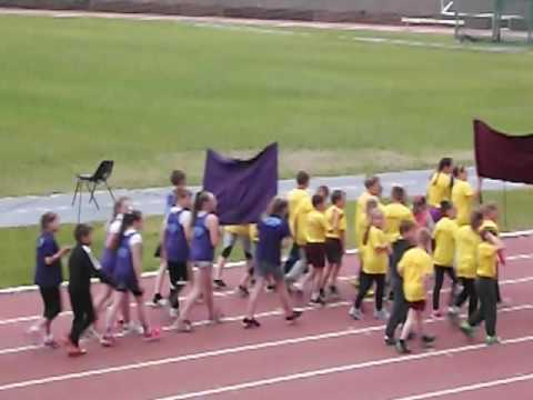 Grangemouth Childrens Day School Sports team parade 2016