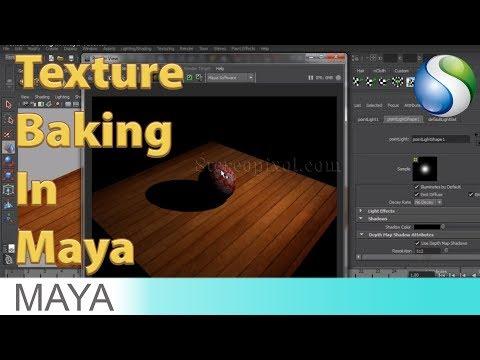 Texture Baking In Maya Tutorial