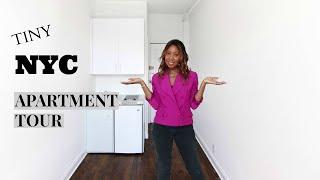 TINY NYC Apartment Tour 2019!  70 sqft Downtown, New York City Cheap Studio for Rent   Nyasia C
