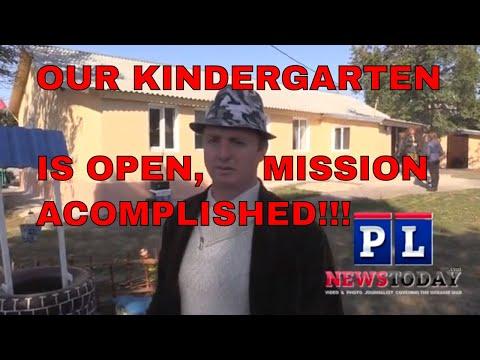 Ukraine Army bombed a kindergarten so we rebuilt it.