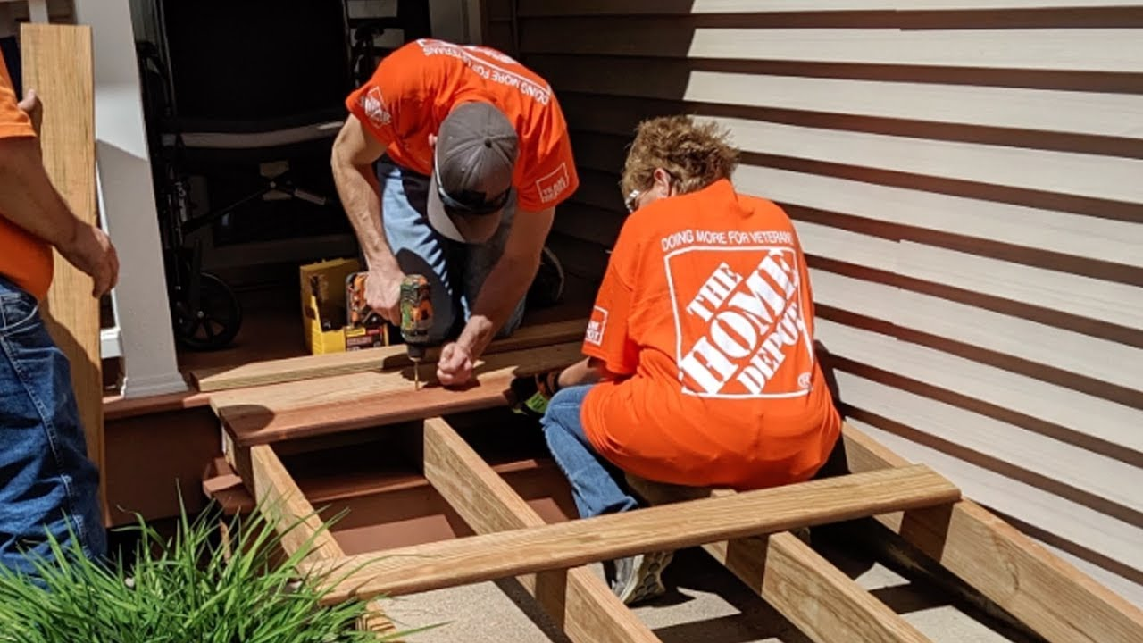 Als Advocate Jp Whalen Receives Home Ramp Thanks To Baxter Home Depot