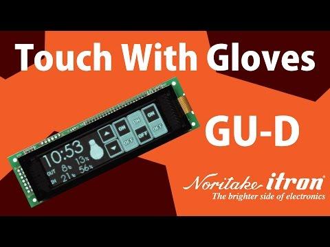 Noritake VFD: Capacitive Touch Module - GU256X64C-D903M