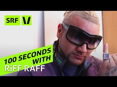 RiFF RAFF: 100 Seconds with the Rap shooting Star