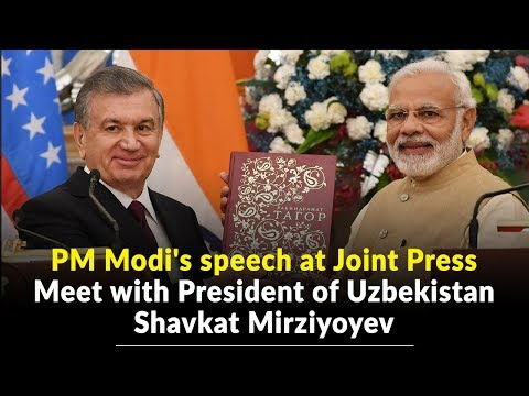 PM Modi's speech at Joint Press Meet with President of Uzbekistan Shavkat Mirziyoyev