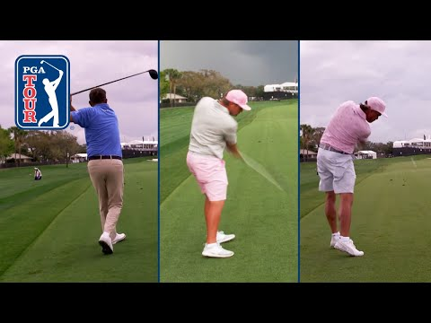 DeChambeau, Fowler and Dufner re-create Arnold Palmer's driver off the deck