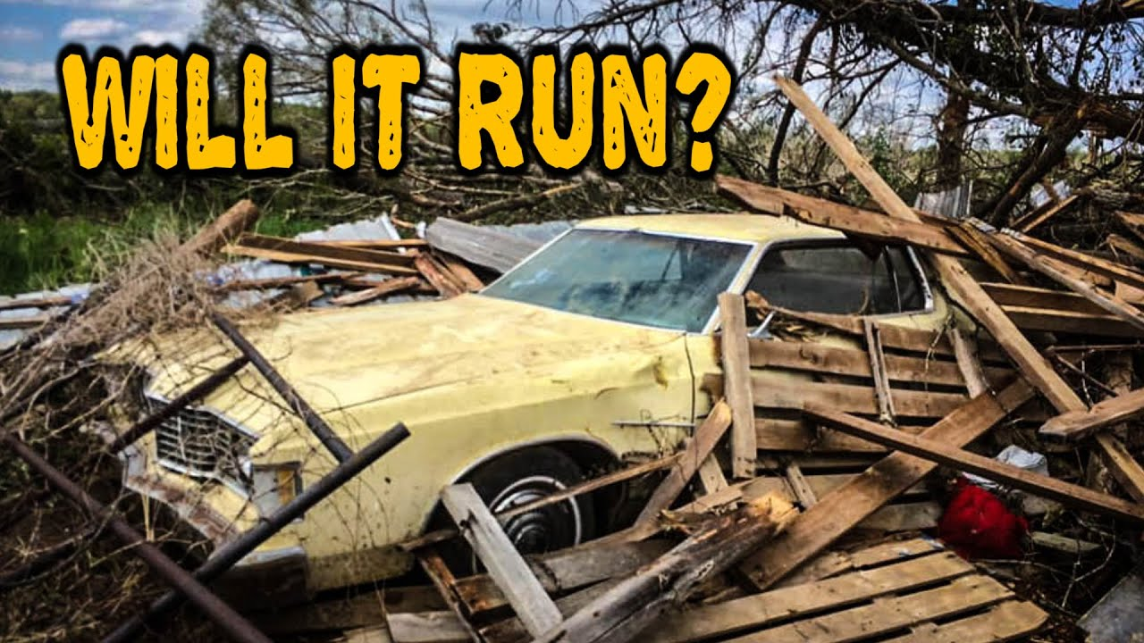 FORGOTTEN Ford Galaxie Survives Tornado and Still Runs!