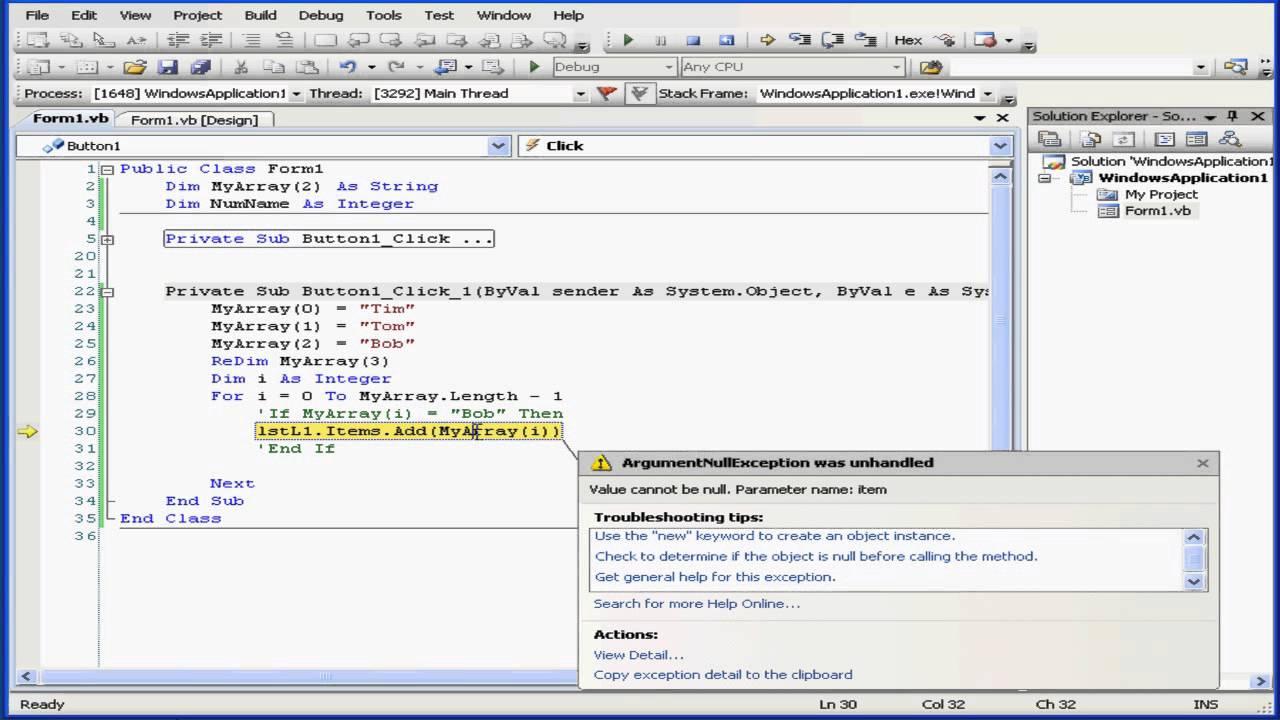 Visual Basic Video Tutorial - Volume 1- Lesson 39: ReDim