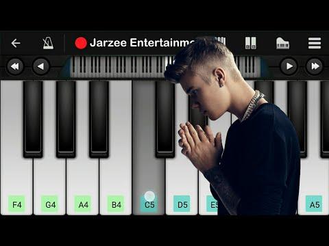 Justin Bieber - Despacito Piano ft. Luis Fonsi, Daddy Yankee - Slow version Mobile Piano Tutorial