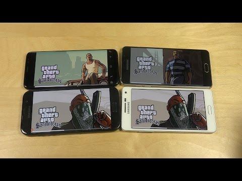 GTA San Andreas Samsung Galaxy S8 vs. Galaxy A5 2017 vs. A5 2016 vs. A5 2015 Gameplay Review!