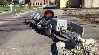 Railroad Crossing Gate Obliterated by hit & run driver!
