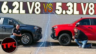 Do You Really Need The BIG V8? 2020 Chevy Silverado 5.3 vs 6.2 0-60 MPH Shootout!