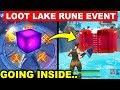 NEW Fortnite LOOT LAKE RUNE EVENT! -  SECRET BUNKER OPENING (Fortnite Battle Royale)