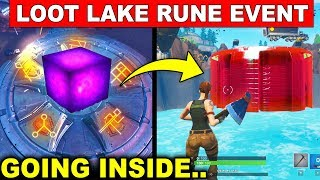 NEW Fortnite LOOT LAKE RUNE EVENT! - SECRET BUNKER OPENING (Fortnite Battle Royale)