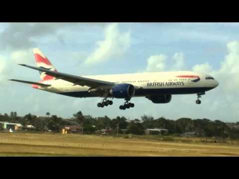 Planespotting at Grantley Adams International Airport - LOTS OF HEAVIES!!!!