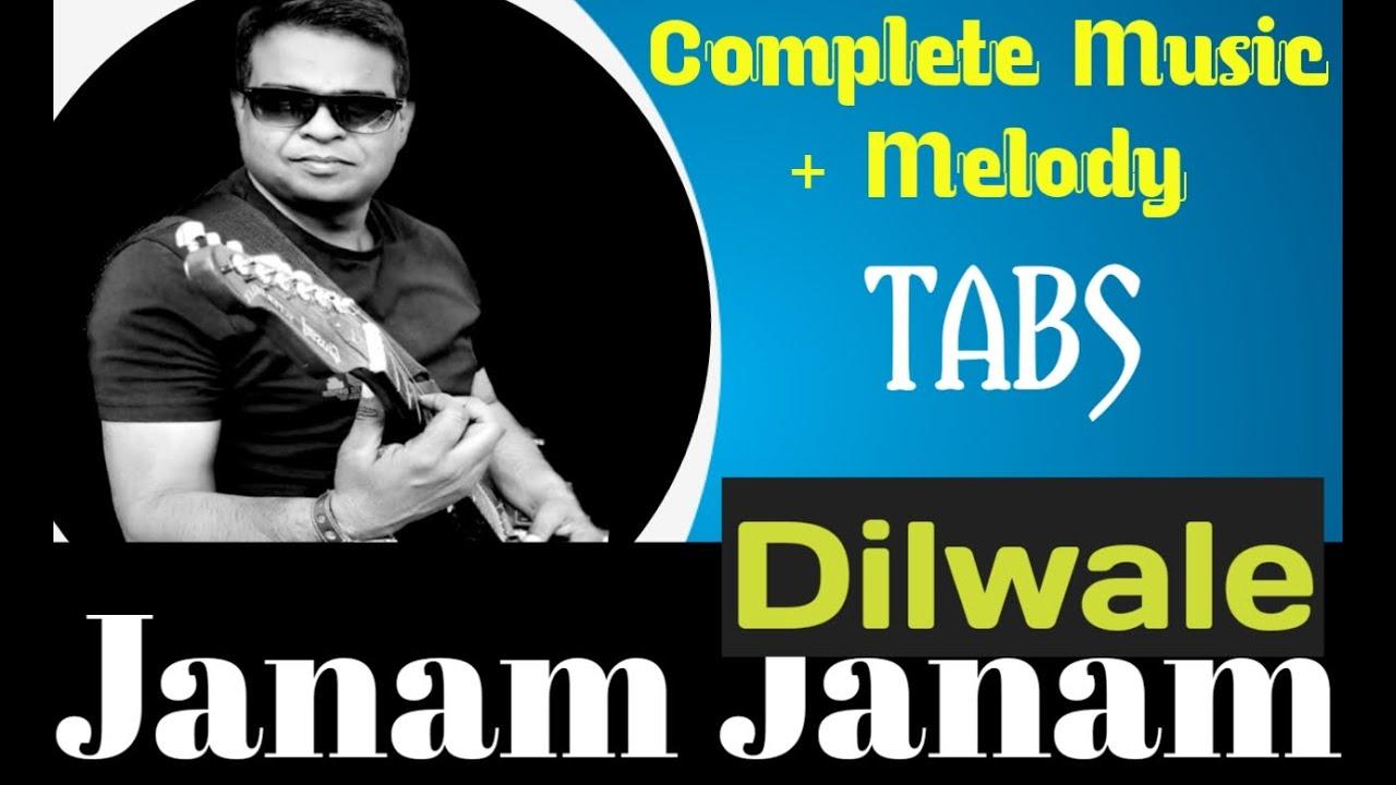 Janam Janam Guitar Lesson Easy Tabs for Beginner's  | Dilwale | Arijit Singh |SRK | Pritam |