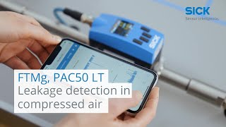 FTMg and PAC50 LT from SICK: Leakage detection in compressed air | SICK AG