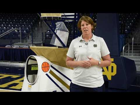 Muffet McGraw & Beth Cunningham show a great Drive & Kick drill