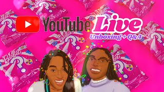 YouTube LIVE with Toya, Bella & Bowie | Unbox Barbie Sweets Surprise Bags | Q&A