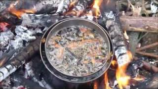 how to cook over an open fire - without burning the food... and without stirring - my way!