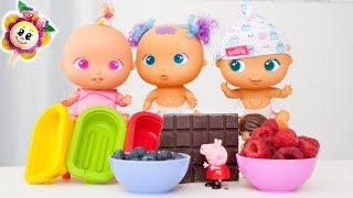 🍦 PEPPA PIG ET PINYPON préparent les meilleures recettes de crème glacée pour les bébés BELLIES !