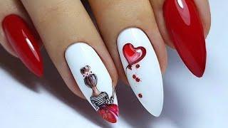 Дизайн ногтей на День Влюбленных Идеи маникюра на День Святого Валентина Valentines nails