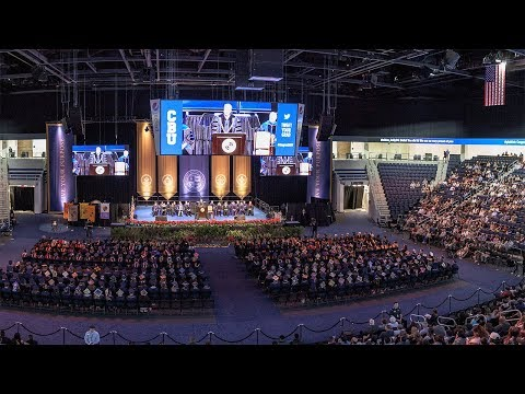 CBU Spring 2018 Commencement. May 4, 7PM.