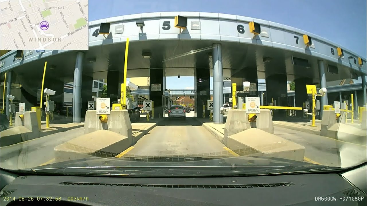 Canada United States Border Crossing Detroit Windsor - Us canada border crossings map