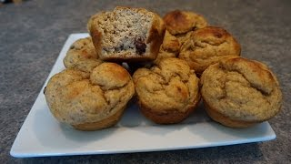Pb Chocolate Chip Banana Protein Muffins Recipe || Quest Nutrition & Mancakes