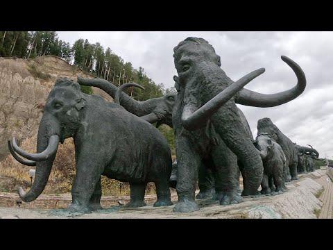 GoPro. Археопарк - культурно-туристический комплекс. ХМАО-Югра Ханты-Мансийск. HERO 7 Black TimeWarp