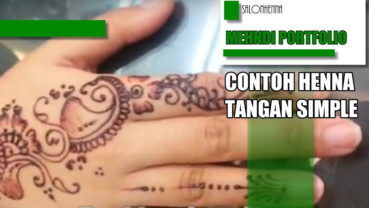 Contoh Henna Tangan For Fun Youtube