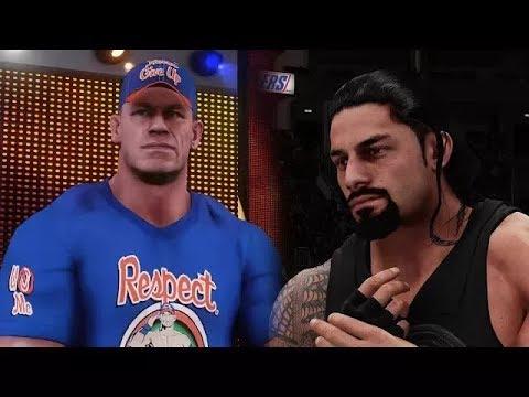 WWE 2K18 Online - John Cena vs Roman Reigns 30 Minute Iron Man Match