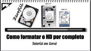 Como formatar o HD  Zerofill